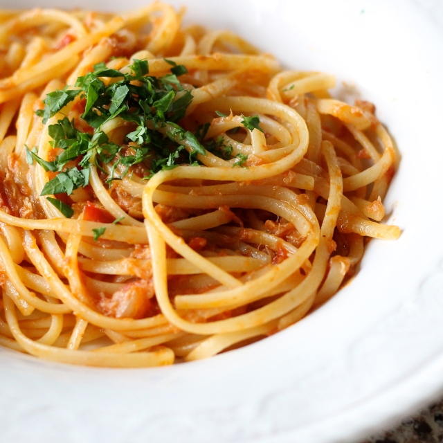 A simple Italian pasta with pantry staples