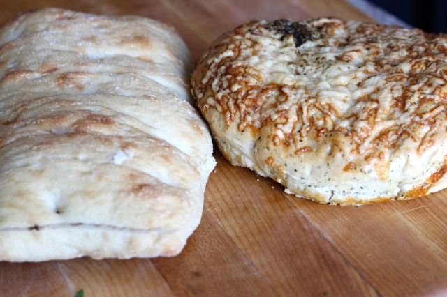 Start with a nice loaf of focaccia or ciabatta