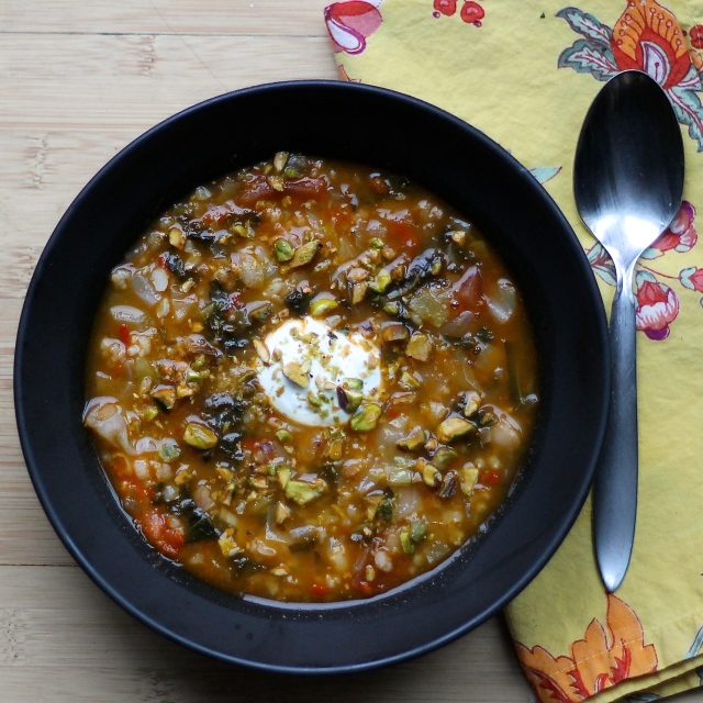 Because Food is Life: Spiced Bean and Rice Soup. A creative and super healthy clean-out-the-fridge soup.
