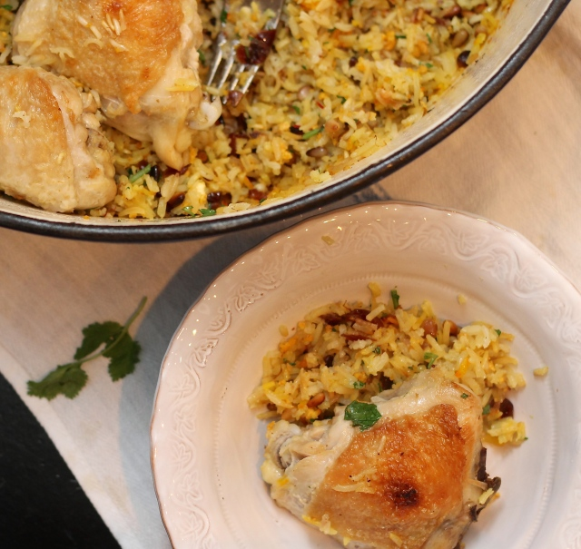 Saffron Chicken and Jeweled Rice | Because Food is Life