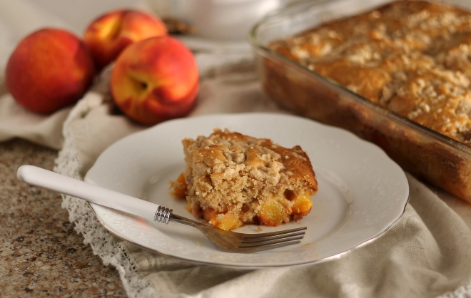 Peach All Day Cake | Because Food is Life