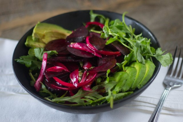Beet and Avocado Salad | becausefoodislife.com