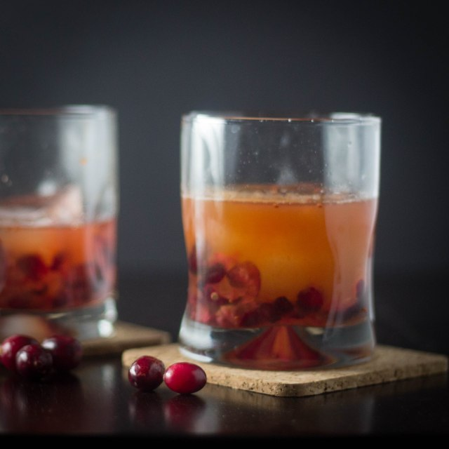 Cranberry Cider Manhattan | becausefoodislife.com