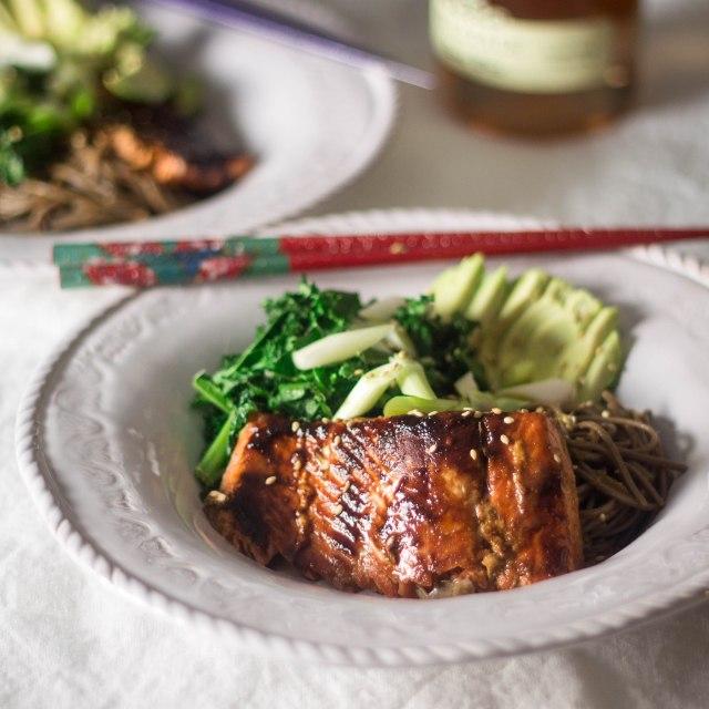 Miso Salmon Bowl   becausefoodislife.com