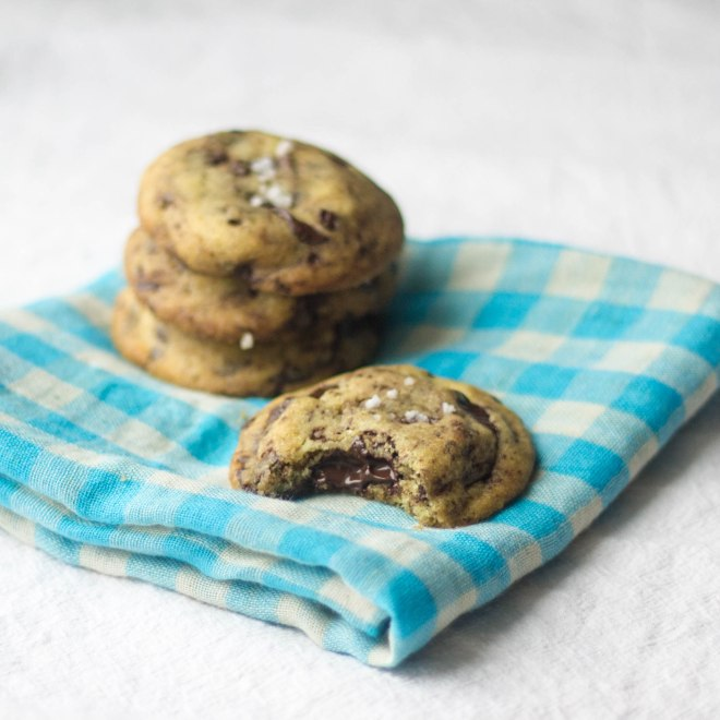 These blood orange infused chocolate chunk and sea salt cookies are the perfect little treat! | becausefoodislife.com