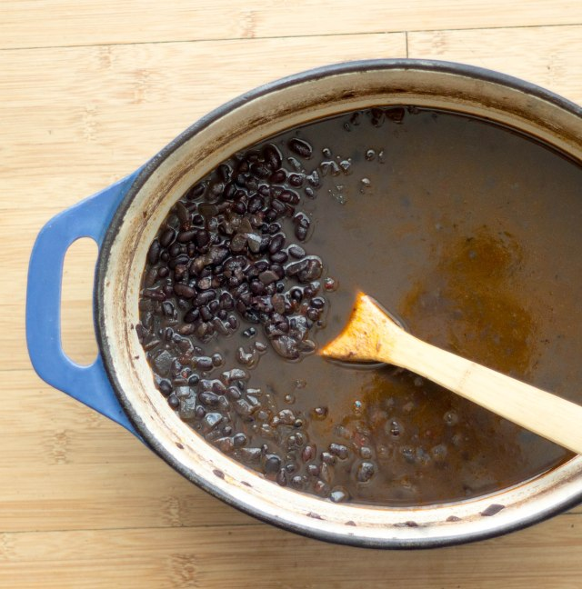 Making a pot of black beans is so easy and so much more flavorful than the canned alternative. | becausefoodislife.com